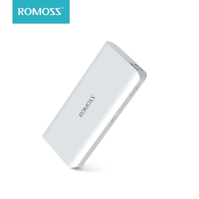 10000 mAh Romoss Solo 5 Power Bank Dual Output External Battery Packs Compact Slim Thin Portable Powerbank Charger For Phone Power Bank     -