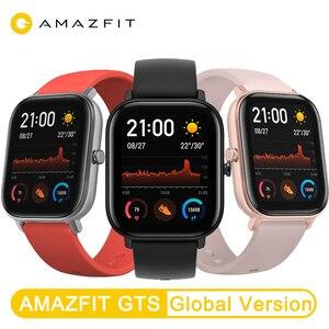 Image 2 - جديد Amazfit GTS النسخة العالمية ساعة ذكية معدل ضربات القلب هوامي مع نظام تحديد المواقع 5ATM مقاوم للماء Smartwatch دعم لنظام أندرويد IOS
