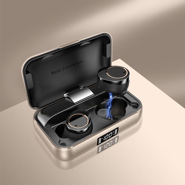 Cuffie Wireless TWS X13 3500mAh Bluetooth 5 auricolari auricolari Wireless veri con microfono a cancellazione di rumore cuffie impermeabili IPX7