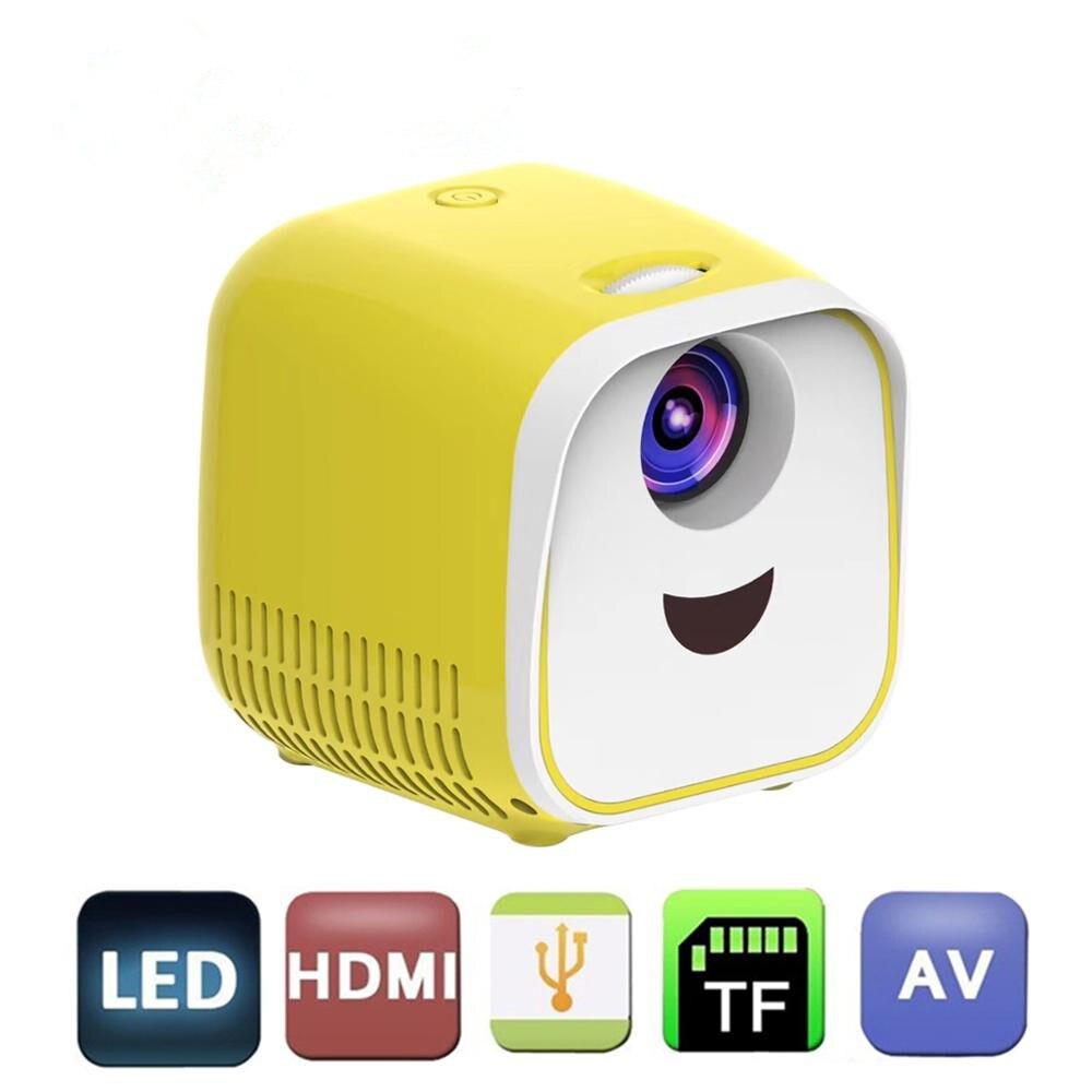 L1 320P Spielzeug Tragbare Mini Projektor LCD + LED Projektion System 480x32 0P 1000 Lumen Kinder Spielzeug Hause theater Mini Projektor