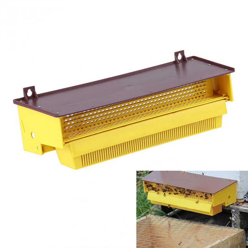 Beekeeping Supplies Tool Plastic Pollen Trap Yellow With Removable Ventilated Pollen Tray Pollen Collector Removable Pollen Trap