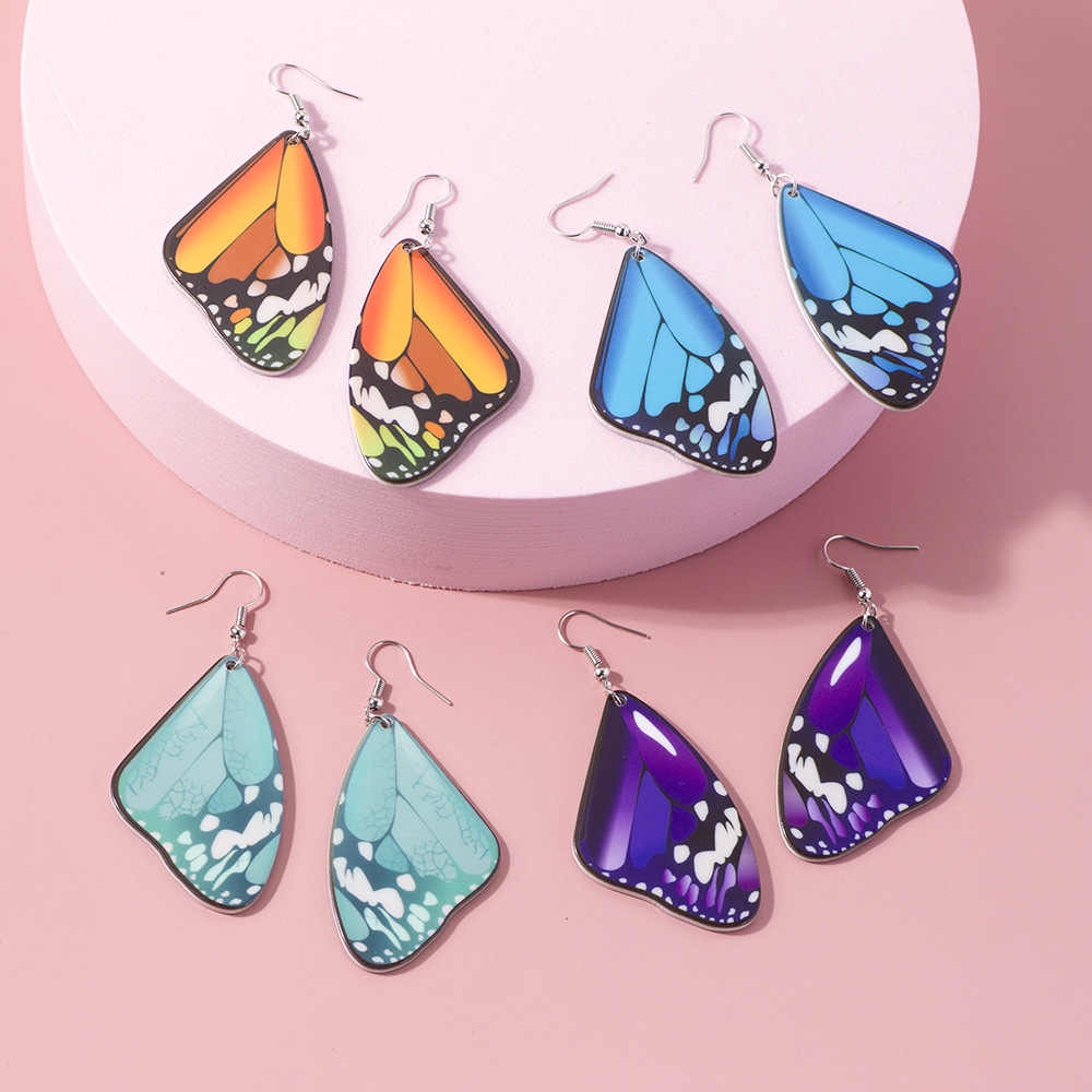 Sky Blue Faux Druzy Cabochon Small Pendant Necklace and Stainless Steel Drop Dangle Earrings Set