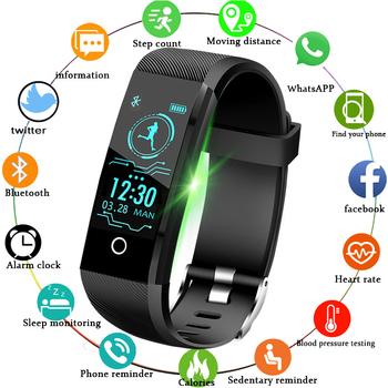 LIGE 2019 nowych smart watch mężczyźni opaska monitorująca aktywność fizyczną ciśnienia krwi tętno alarm z monitorem przypomnij zegarek sportowy inteligentny zegarek + pudełko tanie i dobre opinie Brak 128 MB Passometer Fitness tracker Uśpienia tracker Nastrój tracker Wiadomość przypomnienie Przypomnienie połączeń