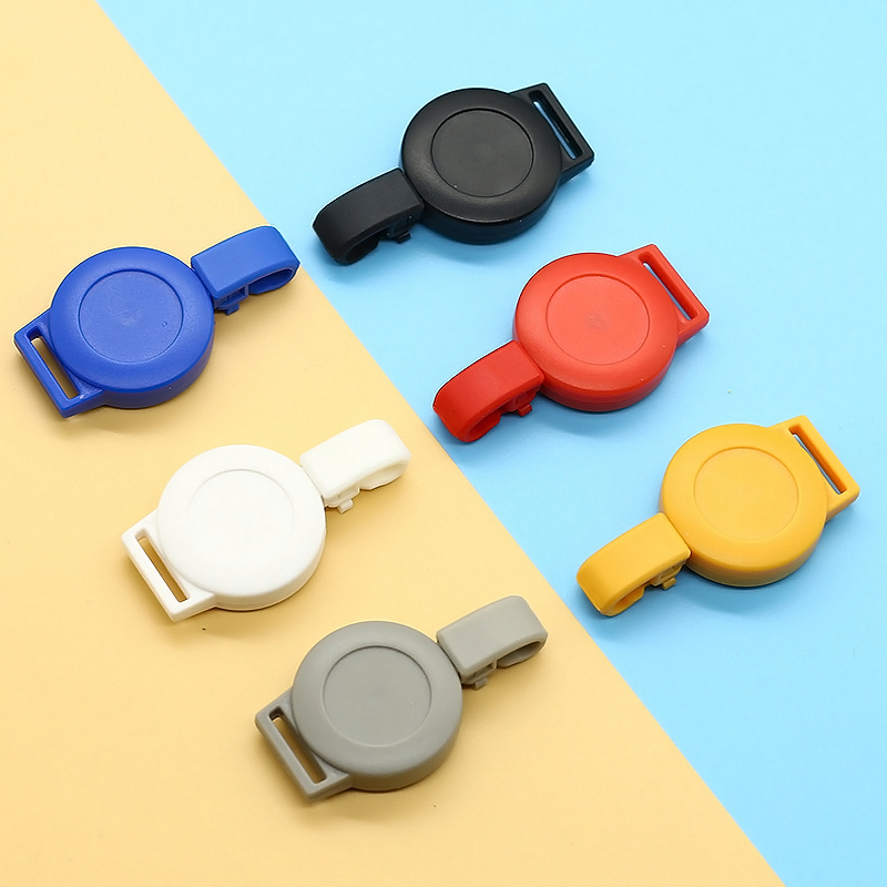 Retractable Pull-out Badge ID Department Brand Badge Holder Rolling Key Ring Buckle School Student Office Badge Reel SM-230 ABS