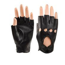 Перчатки для детей от 5 до 10 лет кожаные перчатки без пальцев для мальчиков и девочек черные спортивные водонепроницаемые рукавицы