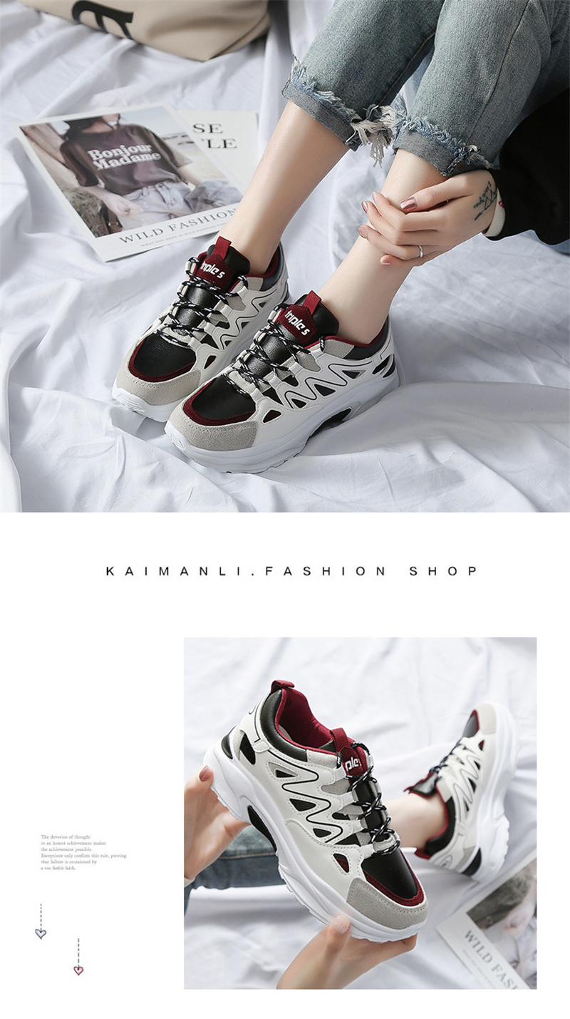 Spring Summer New Fashion Women's Vulcanize Shoes Casual Platform Increased Women Shoes Sneakers Casual Shoes Women VT611 (3)