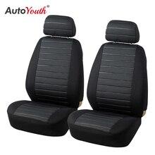 Autoyouth frente tampas de assento do carro airbag compatível universal caber a maioria dos acessórios do carro suv assento do carro capa para toyota 3 cor