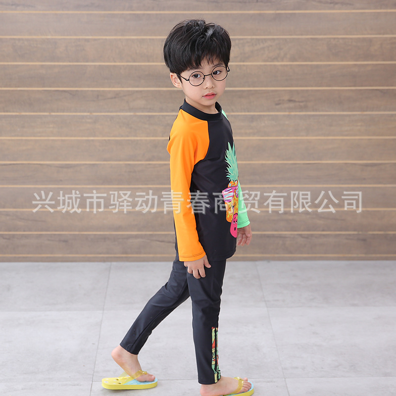 New Style KID'S Swimwear BOY'S Boy Long Sleeve Trousers Split Type Children Sand-proof Water Extractor Warm Swimwear