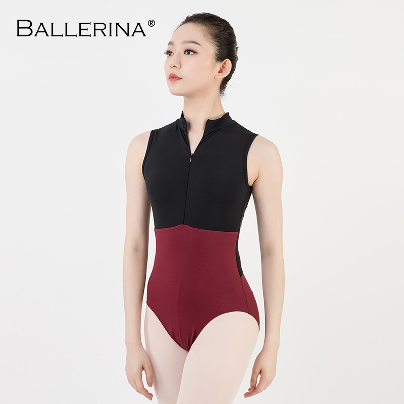 Image 4 - ballet dance Practice black mesh leotard women gymnastics Turtleneck Sleeveless Leotard Ballerina 5681-in Ballet from Novelty & Special Use