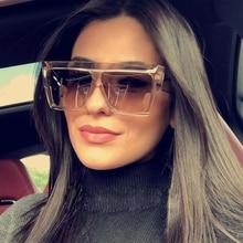 Women Flat Top Sunglasses Men Brand Squa