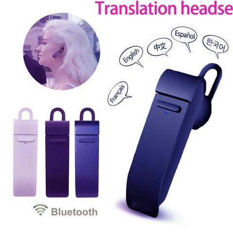 para Dropshipping Microfone Tradutor em Linha Fone de Ouvido sem Fio Inteligente Bluetooth Idiomas Aplicativo Fones Negócios 27