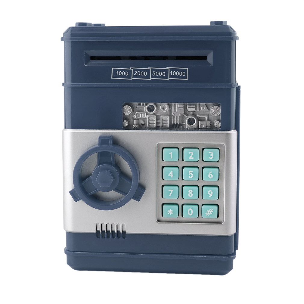 Electronic Money Safe Box Password Saving ATM For Coins And Bills Code Key Case System Money Saving Box For Kids Chirstmas Gifts