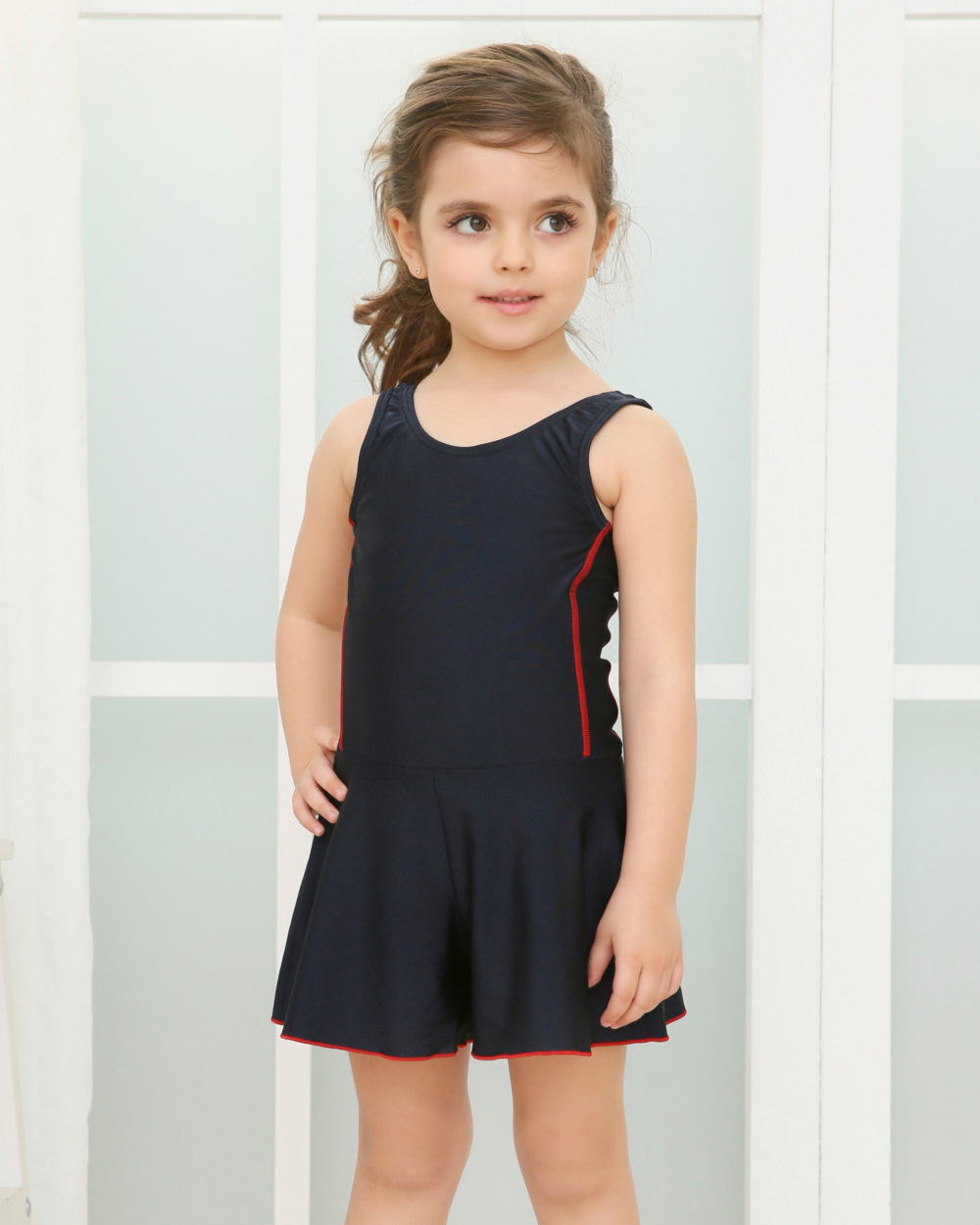 New Style Dress-Japanese-style Students Swimwear CHILDREN'S Swimwear Korean-style Cute Holiday Bubble Hot Spring 2019 New Style