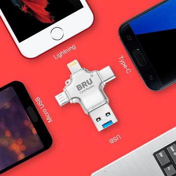 BRU usb OTG pendrive pen drive usb flash drive 3.0 3in116G32G64G128G256GB For iPhone 11 Pro XS X Android Type-c 1