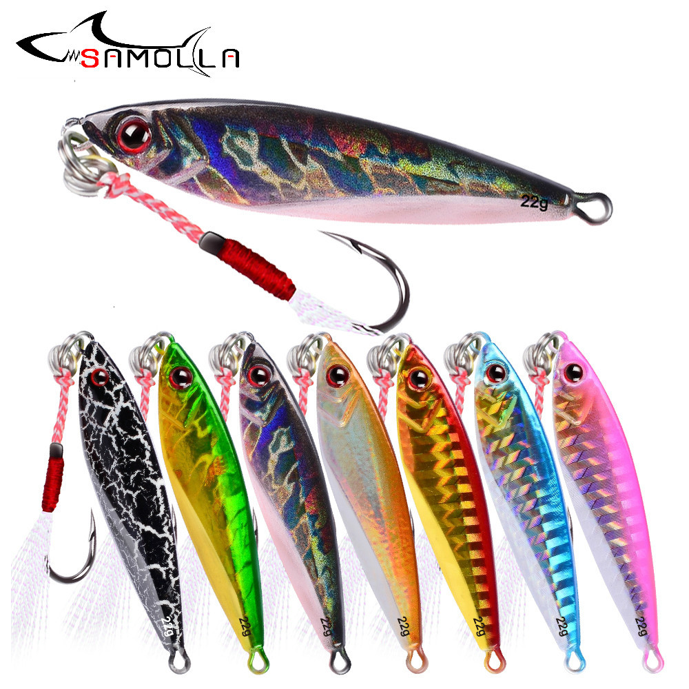 Metal Jig Fishing Lure Weights 7-30g Metal Fishing Bait Holographic Saltwater Lures Articulos De Pesca Isca Artificial Fake Fish