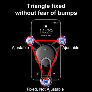 Image 3 - Baseus Gravity Car Holder For Phone in Car Air Vent Clip Mount Stand Universal Car Phone Holder for iPhone Samsung Phone Bracket