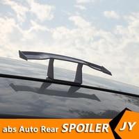 Para geral da cauda do carro mini spoiler modificado gt pequeno tailwing mini com nenhum soco no abs spoiler caráter decoração movem