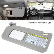 Esquerda motorista lado sun viseira 74320-42501-b2 para toyota rav4 2006 2007 2008 2009 acessórios do carro janela pára-sol cinza