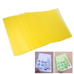 Image 3 - 50 قطعة A5/B5/A4 شفافة PP ملزمة غطاء الفيلم الناخس وثيقة المجلدات حماية الأوراق الداخلية