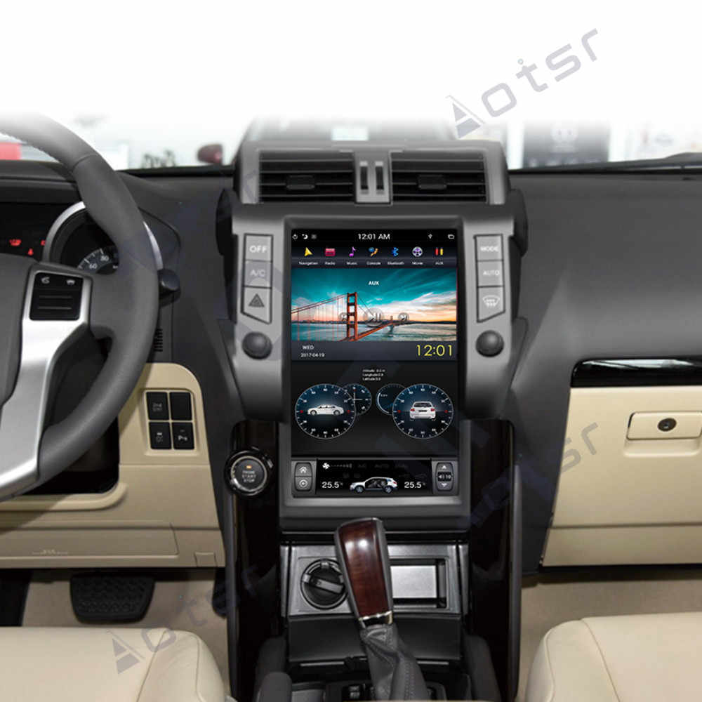 PX6 styl tesla Android 9.0 nawigacja samochodowa gps dla TOYOTA Land Cruiser Prado 150 2014-17 radioodtwarzacz multimedialne radio magnetofon
