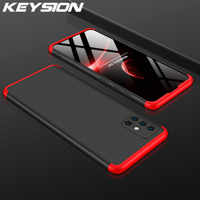 KEYSION 360 Full Protection 3 in 1 Case For <font><b>Samsung</b></font> A51 A71 <font><b>A50</b></font> A70 shockproof <font><b>Back</b></font> <font><b>Cover</b></font> For Galaxy S20 Ultra S10 Plus Note 10+ image