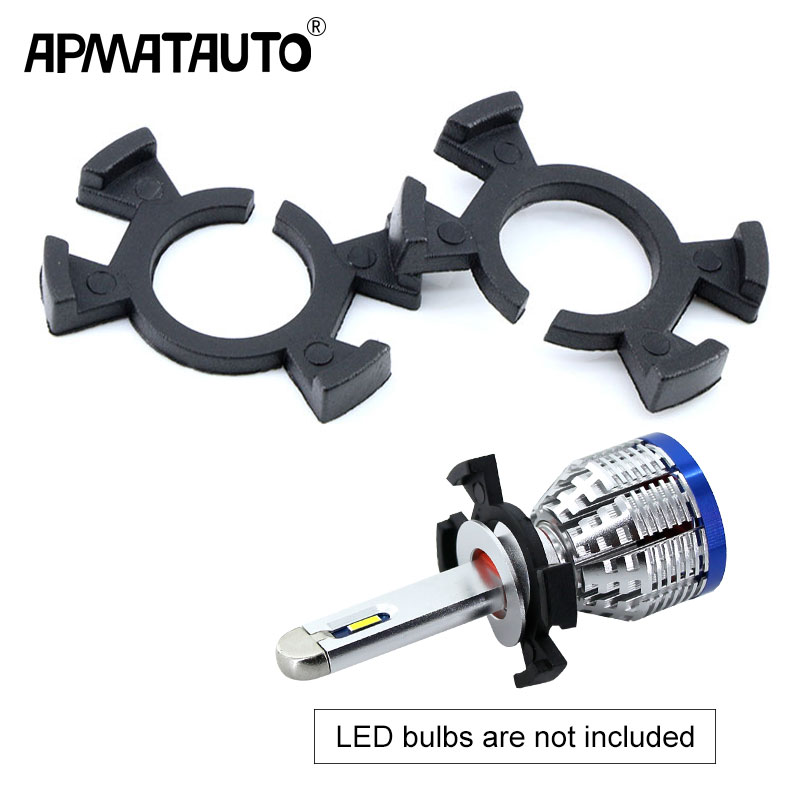 2pcs H1 LED Headlight Bulbs Holder Adapter Base Retainer For Honda Prelude CR-V Odyssey Acura RSX Ect