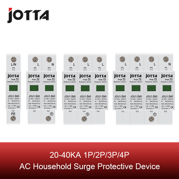 SPD 1P/1P+N/3P/3P+N 20KA~40KA C type  ~385VAC House Surge Protector Protective Low-voltage Arrester Device