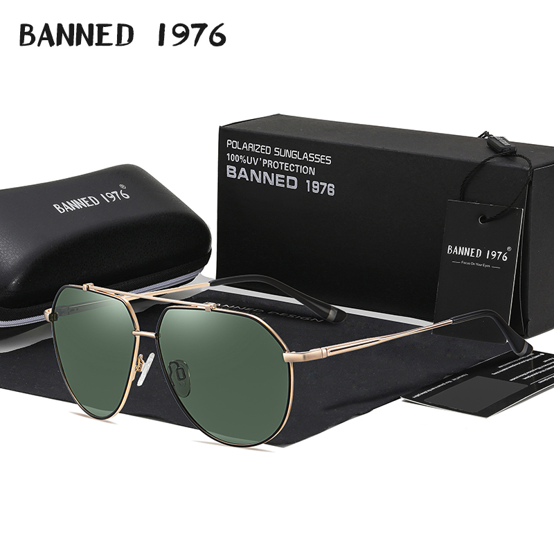 Мужские солнцезащитные очки с поляризацией, зеркальные очки-авиаторы из сплава, для мужчин и женщин, 2021