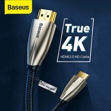 Baseus HDMI כבל וידאו כבלי אבץ סגסוגת 4K HDMI ל hdmi 2.0 כבל כבל עבור HDTV ספליטר צג 4K ספליטר מתג תיבת 60Hz