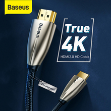 Baseus HDMI Cable Video Cables Zinc Alloy 4K HDMI to HDMI 2.0 Cable Cord for HDTV Splitter Monitor 4K Splitter Switch Box 60Hz
