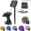Cadena de iluminación al aire libre 12m 22m resistente al agua 8 modos 200 Leds guirnalda Solar luces de hadas Cadena de luz Solar Floral hogar lámpara
