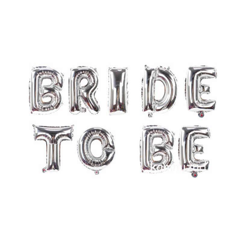 16 polegada Ouro Rosa Noiva A Ser Despedida De Casamento Balões Carta Folha de Balões Decorações Do Partido Acessórios Do Partido de Galinha