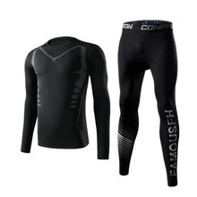 Tracksuit Sports-Suits Training-Clothes Basketball-Underwear Gym-Tights Jogging Men's