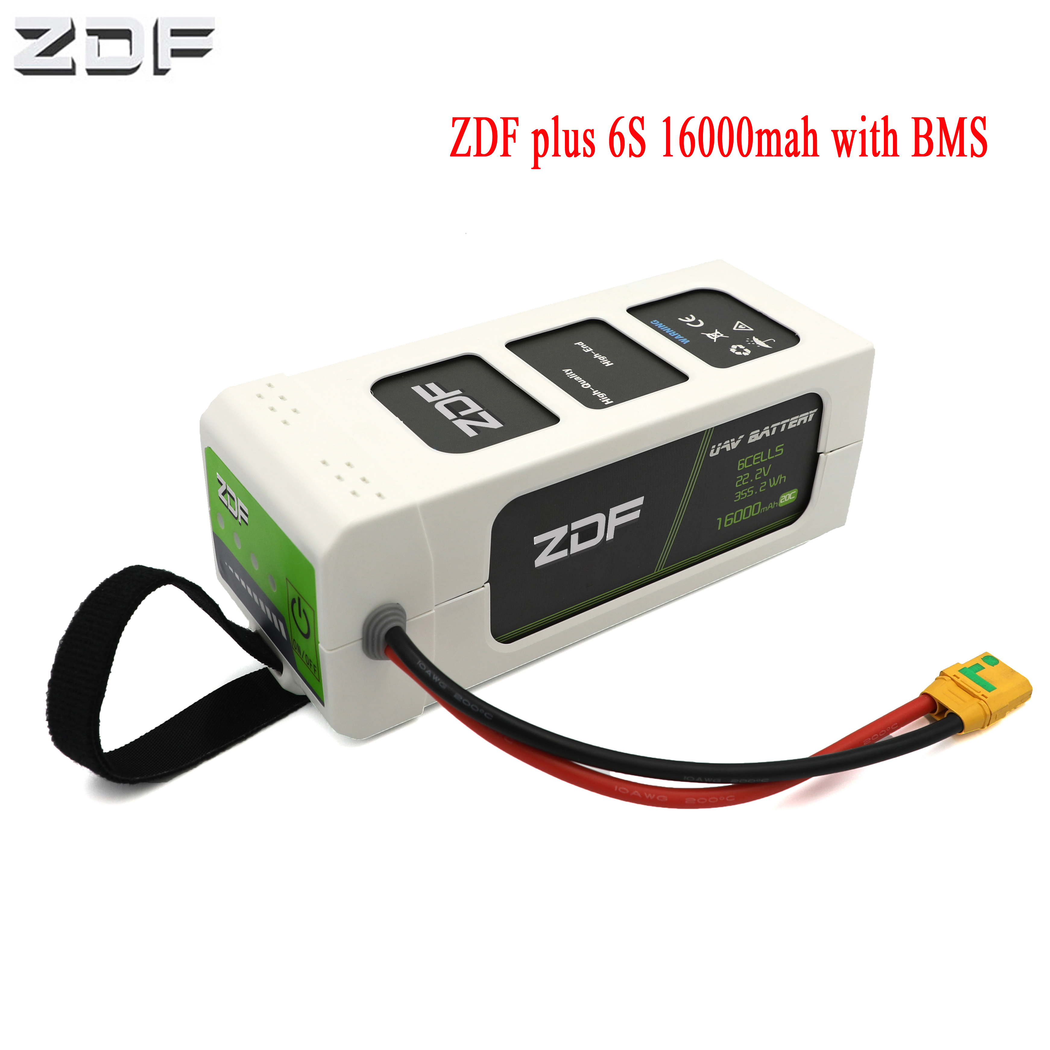 2019 NEW PLUS ZDF 16000mAh 6S 22.2V 6S1P 25C FPV Smart Lipo Battery With BMS For RC Drone image