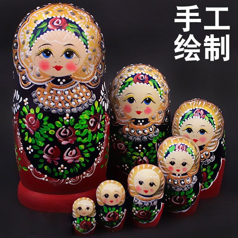 7 couches artisanat poupées russes Matryoshka poupées enfants éducation jouets décoration de la maison cadeau poupée russe
