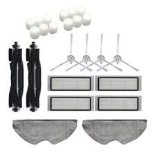 24 Uds lavable cepillo principal cepillos laterales filtro Hepa Filtro de paño de mopa para 360 S5 S7 Robot piezas de aspiradora robótica