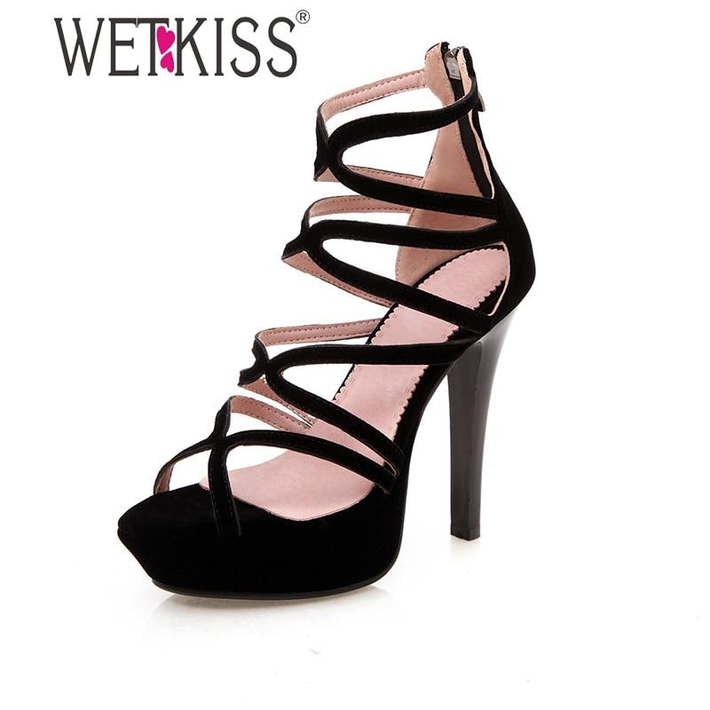 black strappy heels platform