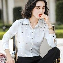 Womens Professional Shirt Fall New White Fashion Korean Long Sleeve Style