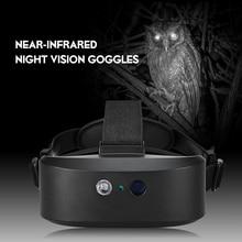 Head Mountอุปกรณ์Night Visionขอบเขตกล้องส่องทางไกลดิจิตอลDarkใกล้อินฟราเรดสำหรับNightการล่าสัตว์สัตว์ป่ามุมมอง
