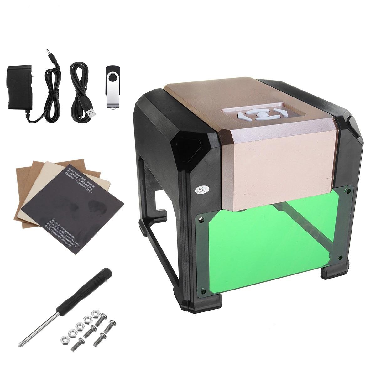 3000mw CNC K4 Laser Engraving Machine 8cm*8cm Home DIY Printer Cutter Woodworking Engraving Desktop Wood Router Laser Engraver