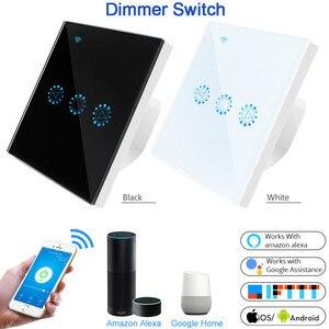 Image 1 - Умный светильник, диммер, стандарт США/ЕС, Wifi, Диммируемый сенсорный переключатель, работает с Alexa Google Assistant IFTTT 110 В 220 В