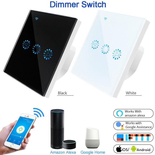 Умный светильник, диммер, стандарт США/ЕС, Wifi, Диммируемый сенсорный переключатель, работает с Alexa Google Assistant IFTTT 110 В 220 В