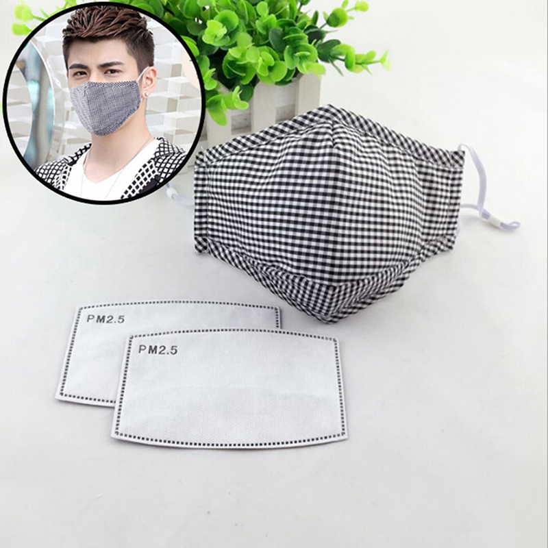 1Pc Cotton PM2.5 Anti Haze Mask Anti-dust Mouth Mask Activated Carbon Filter