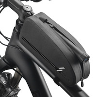 ROCKBROS Bicycle Bags Waterproof Cycling Top Front Tube Frame Bag Large Capacity MTB Road Bicycle Pannier Bike Accessories