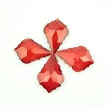 Parts Chandelier-Pendants Prisms Glass Suncatcher Crystal for 63mm Leaf-Shape Mix-Color