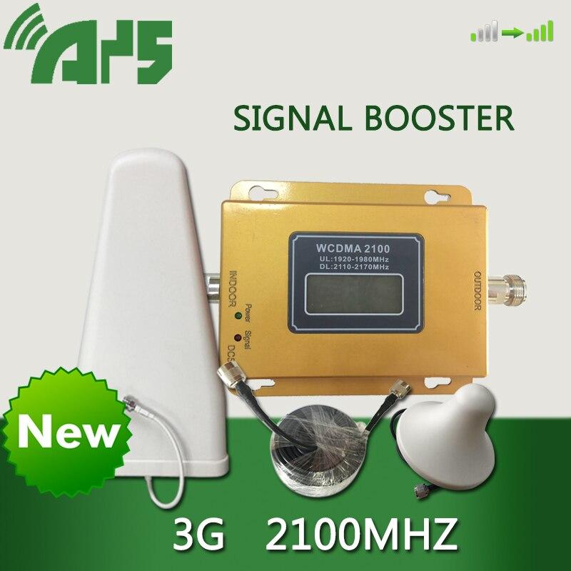Conjunto completo 65dB GSM WCDMA 2100 mhz Celular Repetidor Amplificador de Sinal Celular Impulsionador WCDMA 2100 mhz Repetidor