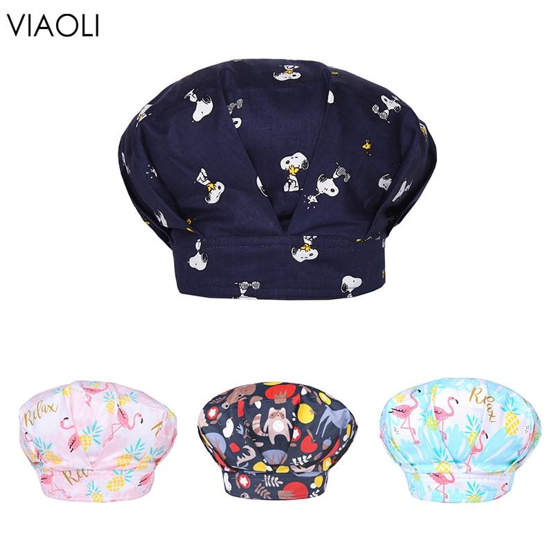 Breathable Cotton Adjustable Pet Hospital Surgical Cap Ladies Men Nurse Cap Beauty Pharmacy Hat High Quality Surgery Hat Navy