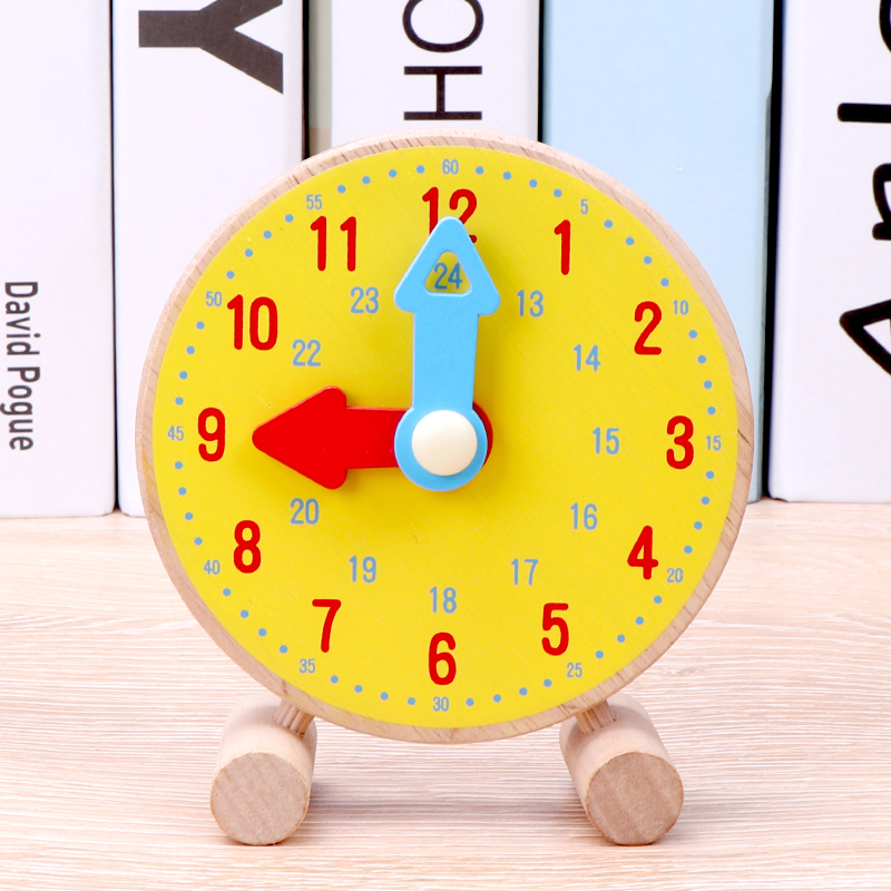 Colorful Bamboo Counting Sticks Clock Toy Mathematics Montessori Teaching Aids Counting Rod Kids Preschool Math Learning Toy