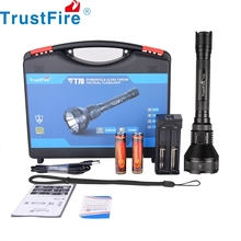 Trustfire T70 Tactical LED Flashlight Hunting Light Cree 2300lm Powerful Camping Lantern 1KM 18650 Torch Light with Dual Switch