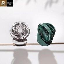 Youpin Solove Clip Fan 3, лобовое стекло 360 градусов, передняя сетка, съемный портативный ручной перезаряжаемый мини вентилятор для домашнего офиса